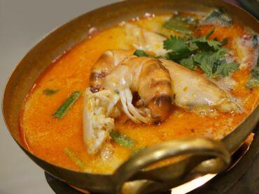 Суп с креветками по-гречески Гаридосупа