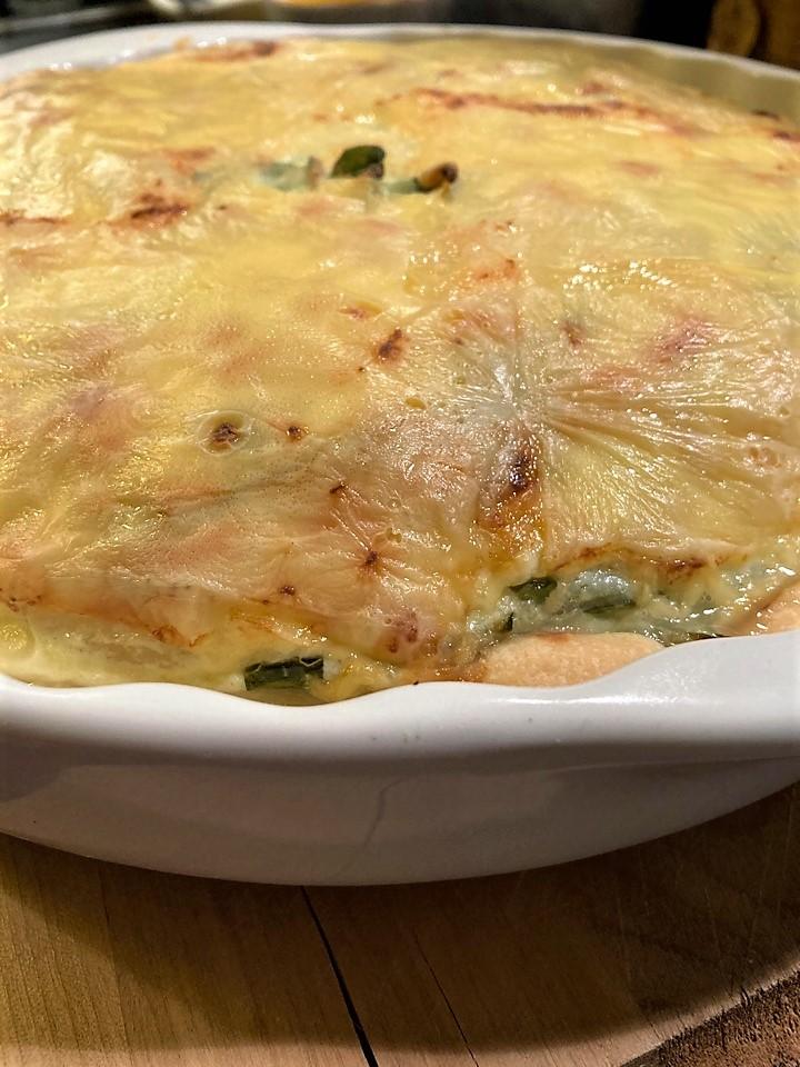 Киш со шпинатом и сыром рикотта