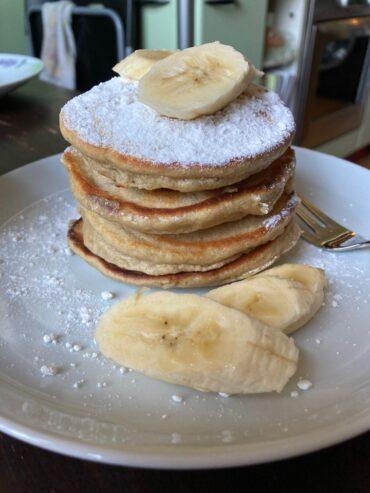 Овсяные блинчики с бананом